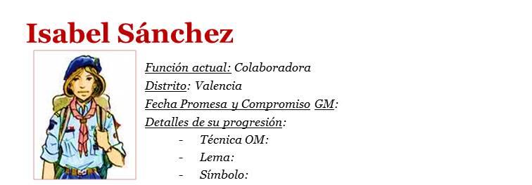 Isabel Sánchez - ficha RS