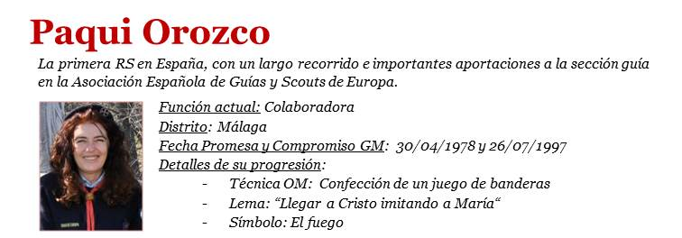 Paqui Orozco - ficha RS